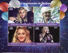 Madagascar 2018 MNH Madonna 60th Bday 4v M/S Music Popstars Celebrities Stamps