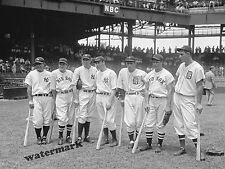 Photograph 1937 Major League Baseball All Stars Gehrig DiMaggio Gehringer 8x10