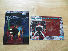 1995 STAR WARS GALAXY II LUKE SKYWALKER LIGHT SABRE CARD SIGNED BILL SIENKIEWICZ