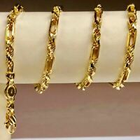 """14kt Yellow Gold 22"""" 4.3 mm Diamond Cut Figarope Chain/Necklace 28 grams"""