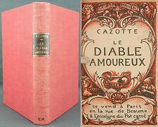 CAZOTTE - LE DIABLE AMOUREUX - EX N° SUR CHESTERFIELD - GRAVURES SUR BOIS - TBE