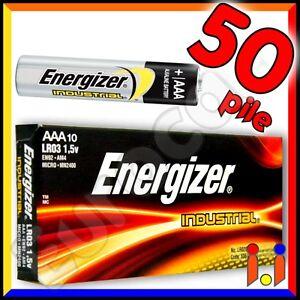 50 BATTERIE ENERGIZER INDUSTRIAL ALCALINE PILE MINISTILO Batteria AAA mini stilo