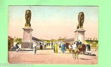 #A.  EGYPT  MILITARY POSTCARD -  1918, ON ACTIVE SERVICE, KASRI-EL-NIL BRIDGE