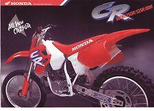 1992 HONDA  CR500RN CR250 CR125 CR80  6 Page Motorcycle Brochure NCS