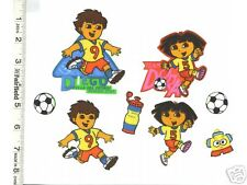 Dora the Explorer Iron On Ons Appliques   Soccer  CUTE!