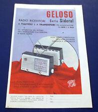 A596-Advertising Pubblicità-1960-GELOSO SERIE SIDERAL - RADIO RICEVITORI