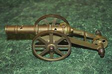"Vintage Solid Brass Cannon Toy or Desktop Decor Model 8"" long"