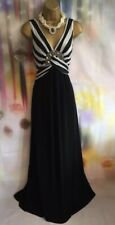 STAR BY JULIEN MACDONALD stretchy black/0ff white maxi full length dress Size 14