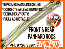 FRONT & REAR ADJUSTABLE PANHARD RODS TO SUIT NISSAN PATROL GU Y61
