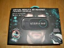 UTOPIA 360 VIRTUAL REALITY 3D HEADSET + BLUETOOTH CONTROLLER - BRAND NEW