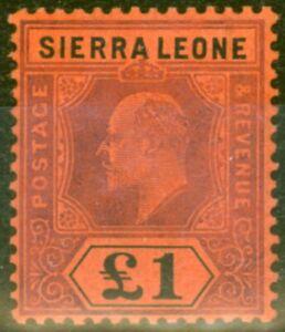 Sierra Leone 1911 Purple & Black-Red SG111 V.F Lightly Mtd Mint