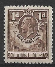 N.RHODESIA, KGV 1925 ISSUE,  1d SG 2  M/MINT