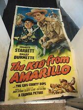 Charles Starrett Kid From Amarillo Original 3-Sheet Movie Poster #N1334