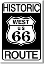 HISTORIC WEST U.S. ROUTE 66, Retro Vintage Tin Sign Magnet Made USA
