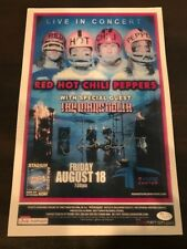 Chad Smith Red Hot Chili Peppers Signed SHOW POSTER JSA/COA