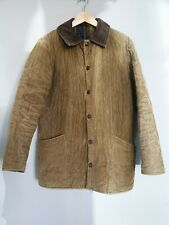 Barbour Mens Coat Jacket Mustard Colour Corduroy Tartan Lining Quilted Size S/M
