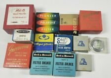 Vintage Camera Accessories Lot Bell Howell Carl Zeiss s27 Polaroid Filter More