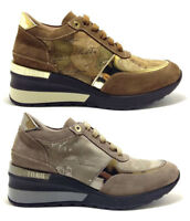 ALVIERO MARTINI 1 CLASSE sneaker geo crossing scarpe donna pelle camoscio zeppa