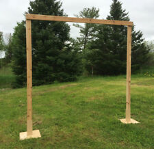 Two Tan Square Steel Chuppah Stands