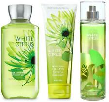 Bath & Body Works WHITE CITRUS Shower Gel + Body Cream + Fragrance Mist Set NEW