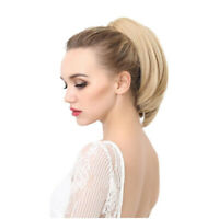 Synthetic Straight Little Ponytail Ombre Blonde Short Claw Ponytails Hairpieces