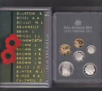 1995 Australia Proof Coin Set in Folder with outer Box & Certificate