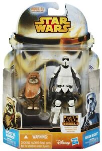 STAR WARS MISSION SERIES 2-PACK  - WICKET W. WARRICK AND BIKER SCOUT FIGURES