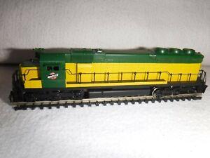 Hallmark Models N-scale CNW EMD SD-45 Samhongsa Brass Locomotive