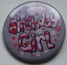Insignia Pin 50 mm insignia de Cumpleaños-Cumpleaños Chica