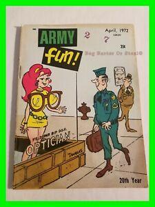 Army Fun Vol. 11 No. 3 April 1972 - Bill Wenzel Back Cover & Art -Don Orehek Art