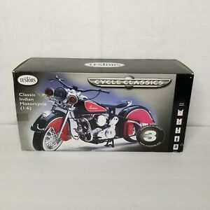 Rare Testors 1/6 Scale Classic Indian Motorcycle Model Kit Complete 2001