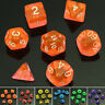 Sided Die Plastic D4 D6 D8 D10 D12 D20 Dice Game Set For Dungeons&Dragons