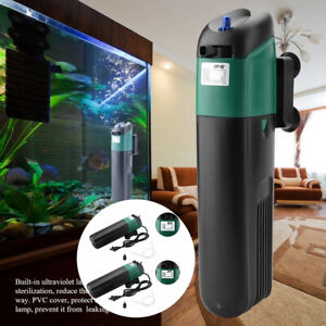 5/9W Aquarium Fish Tank Submersible Water Filter Oxygen UV Sterilizer Lamps 2020