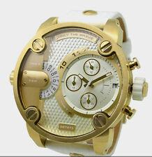 Classic White Men women watches Big case genuine leather Date Quartz watch +box