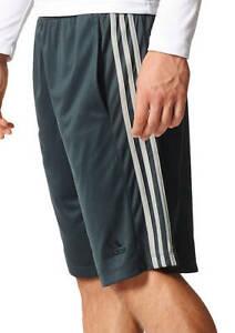 NEW adidas Mens Big & Tall  Climalite Shorts 3 Stripe Black/Gray/Navy