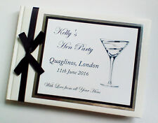 PERSONALISED HEN PARTY/HEN NIGHT GUEST BOOK - ANY COLOUR