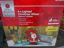 NEW Christmas 9 ft animated  santa  christmas  wheel