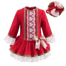 Girls Tutu Dress and Headband Set Embroidered Princess Pageant Party Christmas