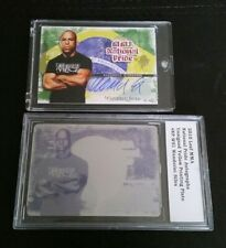 2 Card Lot #1/1 + /60 Wanderlei Silva Printing Plate Nat Pride 2010 Leaf MMA UFC