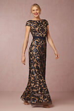 Dark blue lace bridesmaid /prom /homecoming dress
