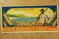 Rara Pubblicita' Etichetta vintage Marino Quaranta PastaOriginale Nuova A 30