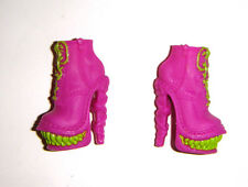 Monster High Doll Sized Pink/Green Shoes/Heels For Monster High Dolls mh125
