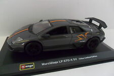 BURAGO 1:32 DIE-CAST AUTO MURCIELAGO LP 670-4 SV CHINA LIM EDIT ART 00789