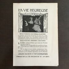 Antique Advertising Life Happy Magazine Female Universelle Illustrated