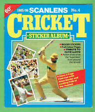 #T43.  1985/86 SCANLENS CRICKET STICKER ALBUM - EMPTY, NO STICKERS
