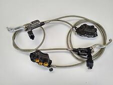 Hope Mono 6ti 6 Pot Front & Rear Disc Brake Set - Black & Gold USED 085