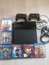Playstation 4 500 GB mit 2 Controllern, Kabeln und 6 Spielen