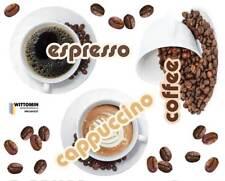 Aufkleber Sticker Wandsticker Wandaufkleber Coffee Kaffee Espresso Cafe Küche