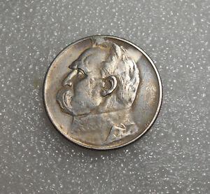 Poland 5 Zlotych Silver Coin 1934 Circulated / Jozef Pilsudski / Strzelecki