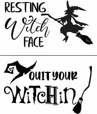 "Reusable Adhesive 8.5"" x 11 Resting Witch Face Stencil Magnolia Design Co"